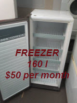 Upright freezer 160l $50 per month