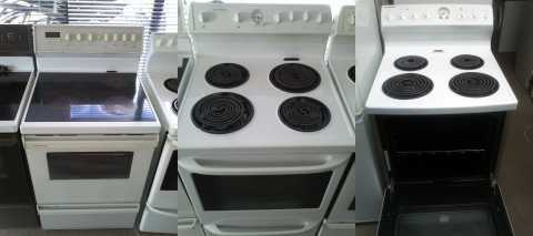 Electric stoves, different sizes and brands